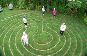 People on the labyrinth